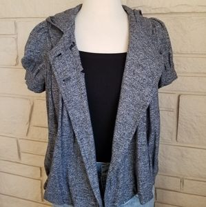 Juicy Couture Grey Short Sleeve Button Blazer